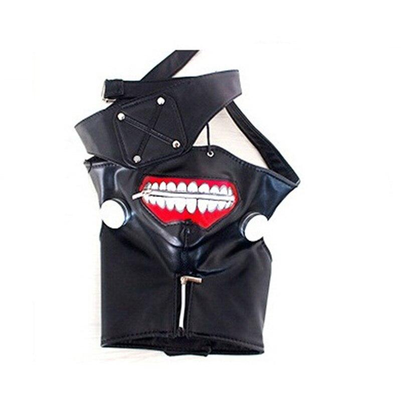 Tokyo Ghoul Kaneki Ken Cosplay Mask Adjustable Zipper Anime Halloween Black Mask