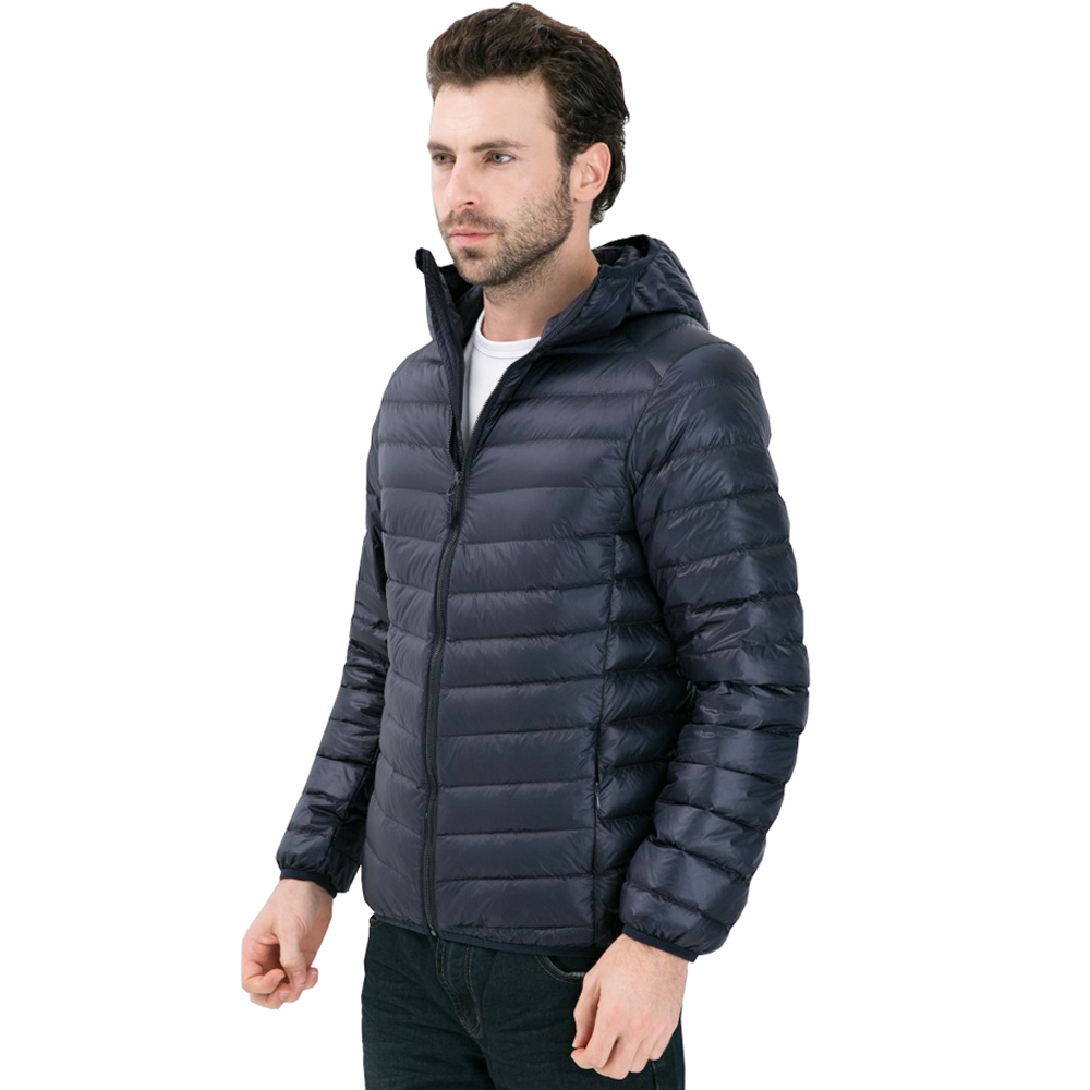 2019 New Men White Duck Down Jacket Portable Hooded Down Coat Ultralight Men Winter Coat Warm Thermal Down Parkas Plus Size Jackets & Coats Men's Clothing