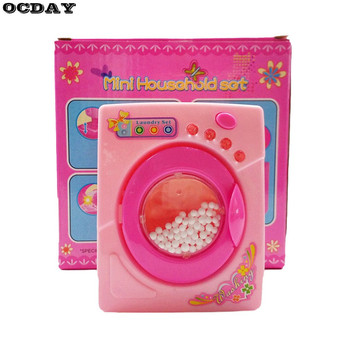 High Simulation Toys Electric Washing Machine with Light Sound Children Pretend Play House Toy Kids Home Appliance Toy Pink Hot