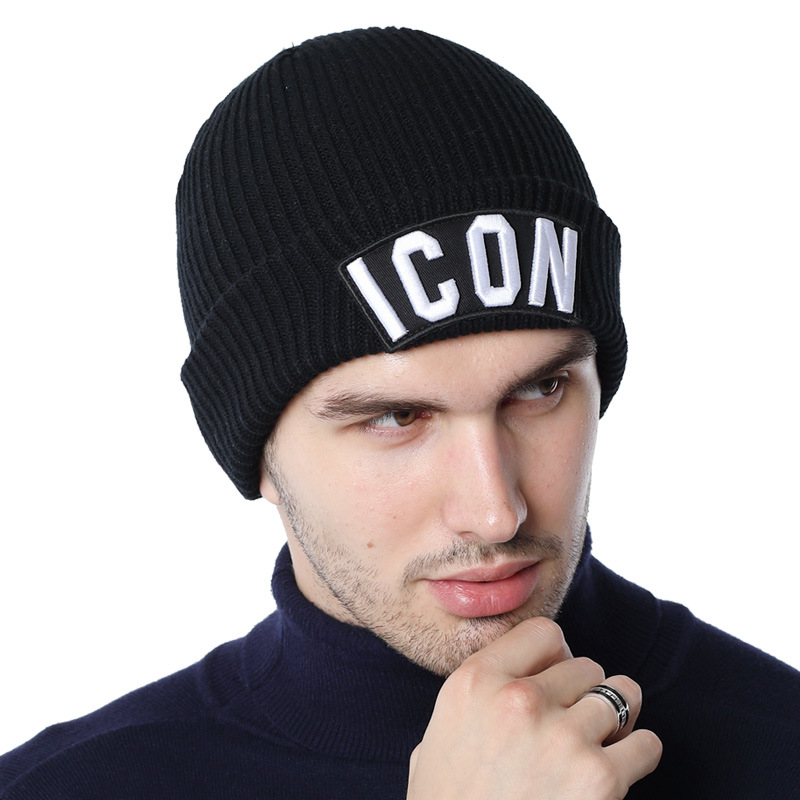 DSQICOND2 Skullies Beanie Embroidery Skiing Knitted Hats ICON Women Men Winter Cap Warm Baggy Beanies Knit Skullies Bonnet Caps