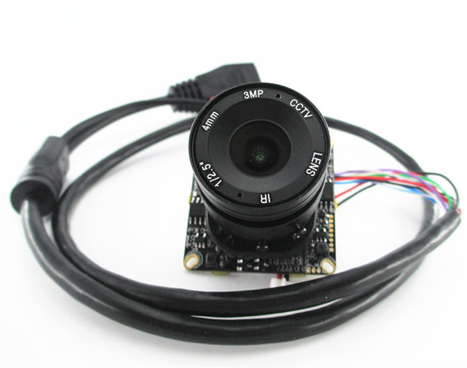2mp Full HD CCTV 1080 P Module de caméra IP carte mère 2.0mp Hisilicon + objectif 4mm