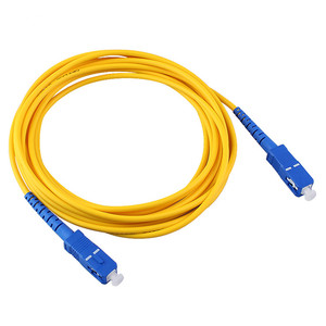 Image 2 - 10 meter SC SC SM SX 3mm 10 M 9/125um SC/PC Glasvezel Patchkabel Optische fiber Jumper Kabel