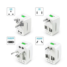 цена на Shopping Malls Outlet Adapter Outdoor Airlines 6A 110-240V US/AU/UK/EU Universal Electric Converter Plug White
