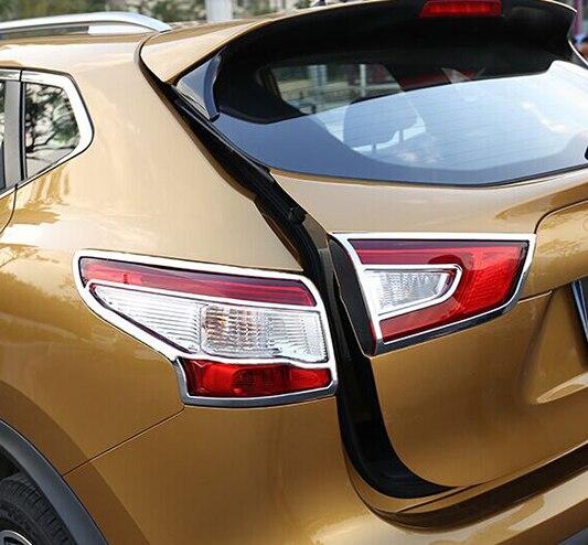 Accessoires de voiture adaptés pour 2014 2015 2016 NISSAN QASHQAI J11 CHROME feu arrière couvercle de la lampe garniture garniture contour moulage