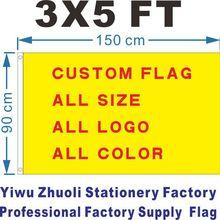 Флаг на заказ 150X90 см(3X5 футов) 120 г 100D полиэстер низкая цена и высокое качество все цвета логотип Royal Falg