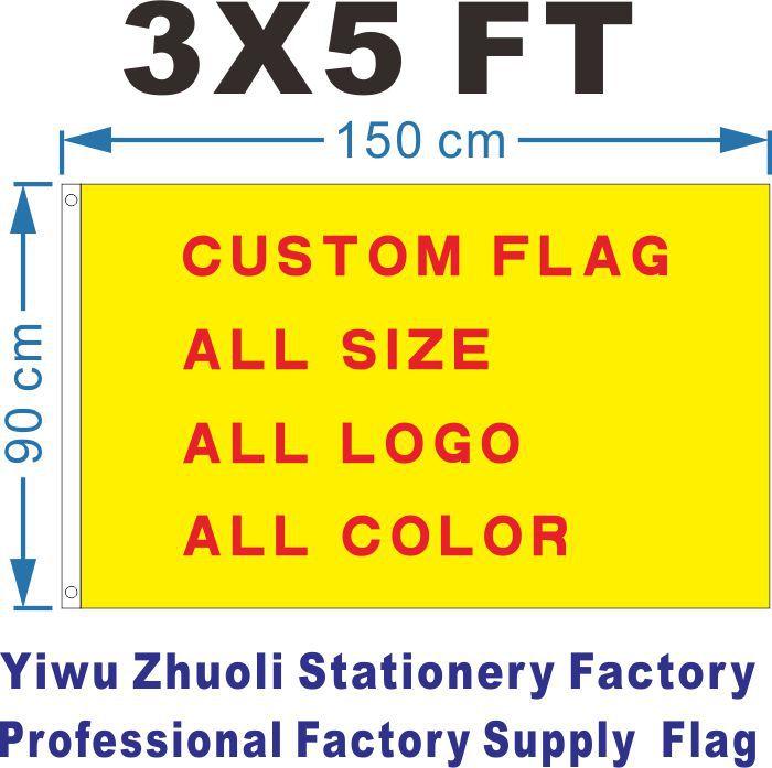 Egyedi zászló 150X90cm (3x5FT) 120g 100D poliészter Olcsó ár és magas színvonalú minden logó Minden szín ingyenes szállítás Royal Falg