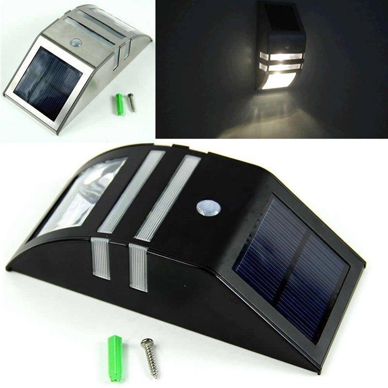 Waterproof LED iluminacion solar garden lights outdoor lighting motion light sensor square decoration solaire lantern wall lamp