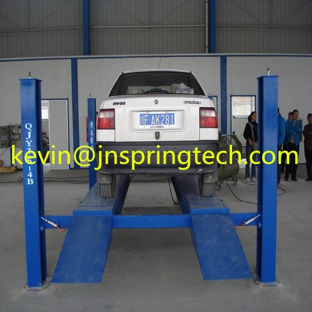 4 post car parking lift with manual release/35tons Capacity 4 Post