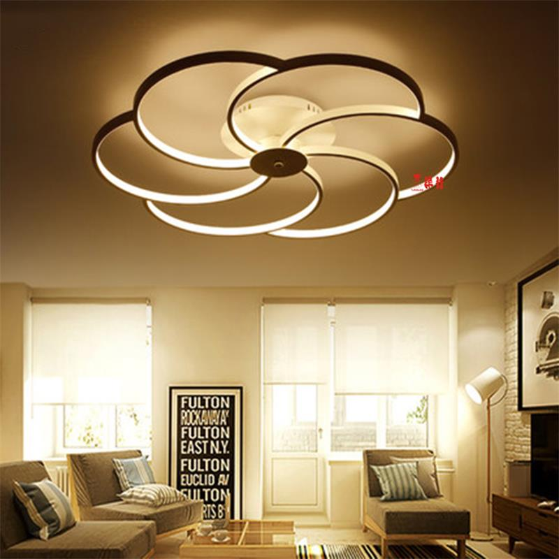 Mode  LED New Surface mounted modern led ceiling lights for living room Bedroom Aluminum White AC85-265V Indoor LED Ceiling Lamp