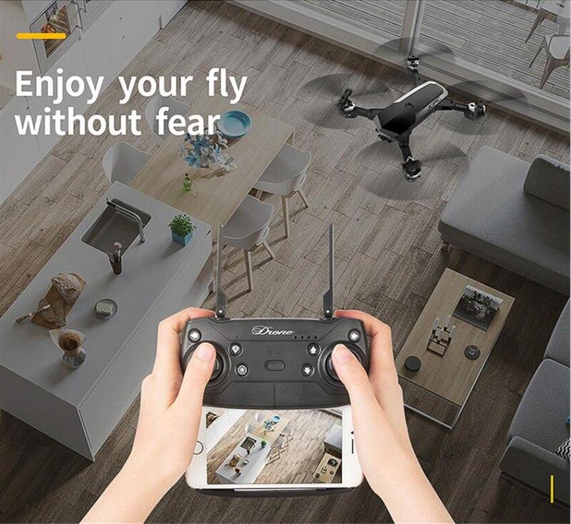 Mise à niveau YH-19HW WIFI FPV poche RC Drone 150 M 1080 P 720 P HD caméra aérienne 18 minutes Long vol Drone pliant hélicoptère VS E58 X5C