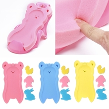 NoEnName-Null Newborn Anti-slip Sponge Pad Baby Bath Tub Bathing Infant Shower Care