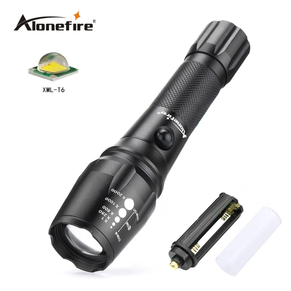 Alonefire G900 CREE XM-L T6 LED Aluminum Waterproof Zoomable Flashlight Torch light for 18650 Rechargeable or AAA Battery cree xm l t6 bicycle light 6000lumens bike light 7modes torch zoomable led flashlight 18650 battery charger bicycle clip