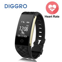 Diggro S2 Fitness Tracker IP67 Waterproof Smart Band Real Time Heart Rate Wristband For Android 4