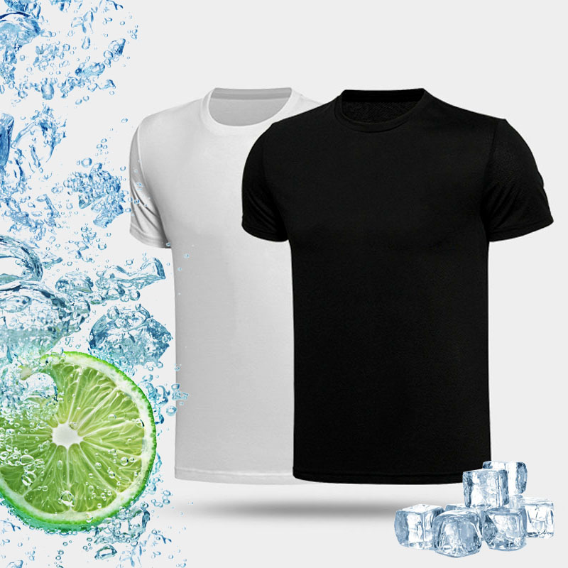 Quick Dry Refrigerator Cooling Men T Shirt Anti-uv Sunscreen T-shirts NO Fade Short Sleeves Shirt Male Tops Breathable Sport Tee