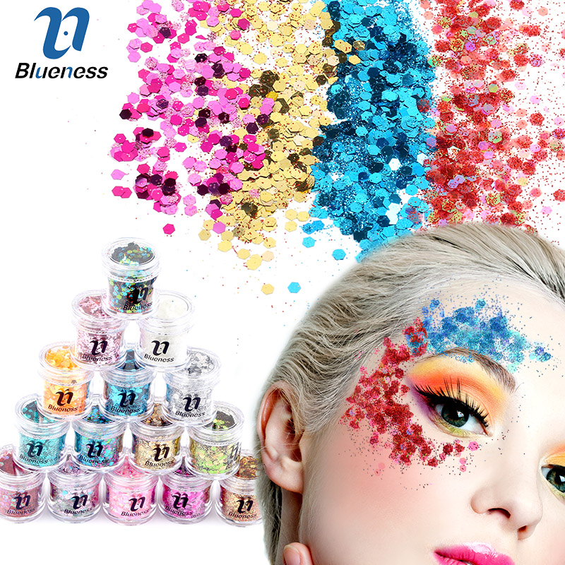 10g/Box Holographic Face Body Hair Makeup Masquerade Cosmetic Glitter Festival Beauty Nails Decorations Nail Sequins
