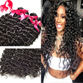 7A Indian Virgin Hair Deep Wave Virgin Hair 4 Bundles Raw Indian Hair Deep Curly Weave Human Hair Extensions Indian Deep Wave