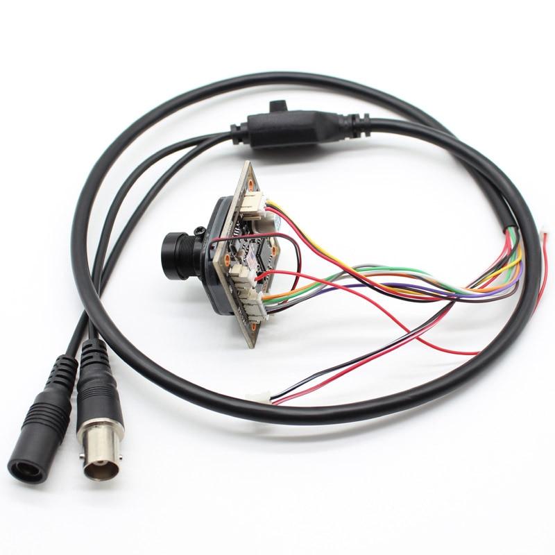 2.8-12mm lens HD 1080P 2mp AHD TVI CVI CVBS 4in1 CCTV Camera Module CMOS board