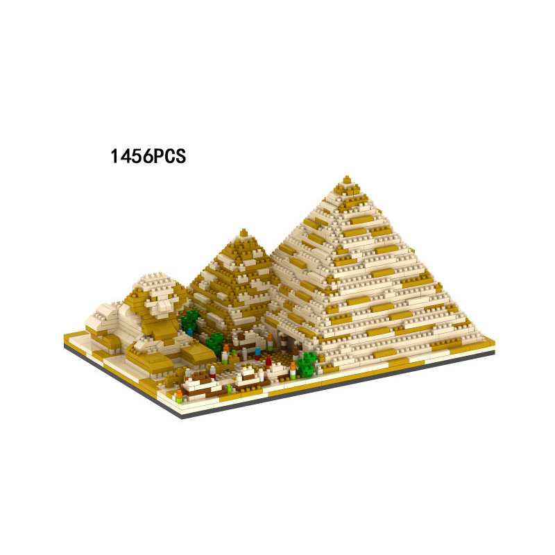 World famous Architecture Historic monuments micro diamond building block Egypt Pyramid and Sphinx nanoblock bricks toys цена