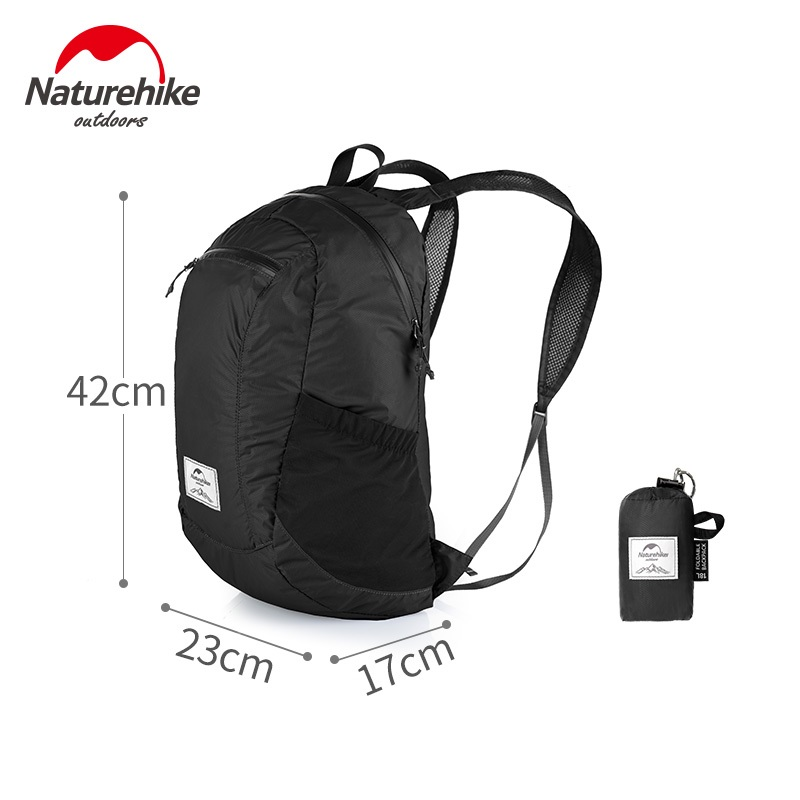 Naturehike Ultra Lightweight Packable Backpack Water Resistant Outdoor Hiking Camping Foldable Daypack 18L