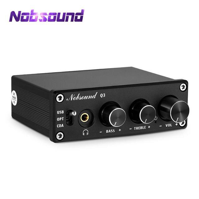 Nobsound HiFi USB DAC Mini Digital to Analog Converter Coax/Opt Headphone Amp With Treble Bass Control