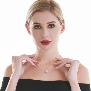 Cauuev حقيقية 100% لؤلؤ مستزرع في الماء العذب مجوهرات الساخن بيع 925 فضة قلادة قلادة هدية للنساء الإناث يهودي