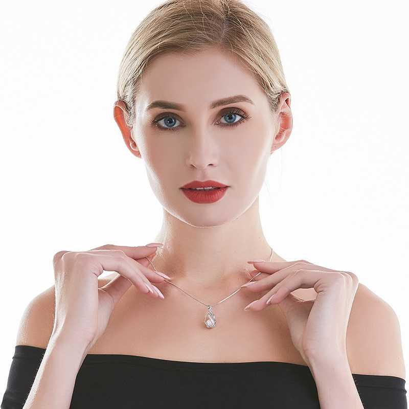 Cauuev 本物の 100% 天然淡水パールジュエリーホット販売 925 スターリングシルバーペンダントネックレスのギフト女性ユダヤ人