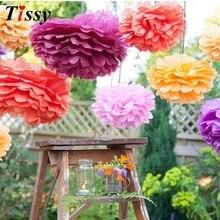 1 adet 10 inç (25cm) ponpon doku kağıt Pom Poms çiçek öpüşme topları ev dekorasyon şenlikli parti malzemeleri düğün iyilik