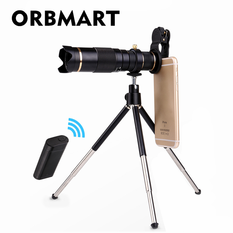 ORBMART 23X 4K HD Telephoto Telescope Universal Clip Mobile Phone Lense With Wireless Bluetooth Control and Collection BagORBMART 23X 4K HD Telephoto Telescope Universal Clip Mobile Phone Lense With Wireless Bluetooth Control and Collection Bag