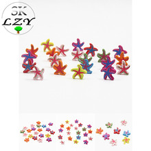 25PCS Cute Starfish Shape Gasket DIY Color Loose Beads Childrens Toys Making Jewelry Necklace Bracelet Accessories