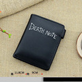 2016 sección corta de la mayor parte de Death Note anime monedero snap Doble monedero de la cartera negro de dibujos animados de estilo clásico presente perfecto