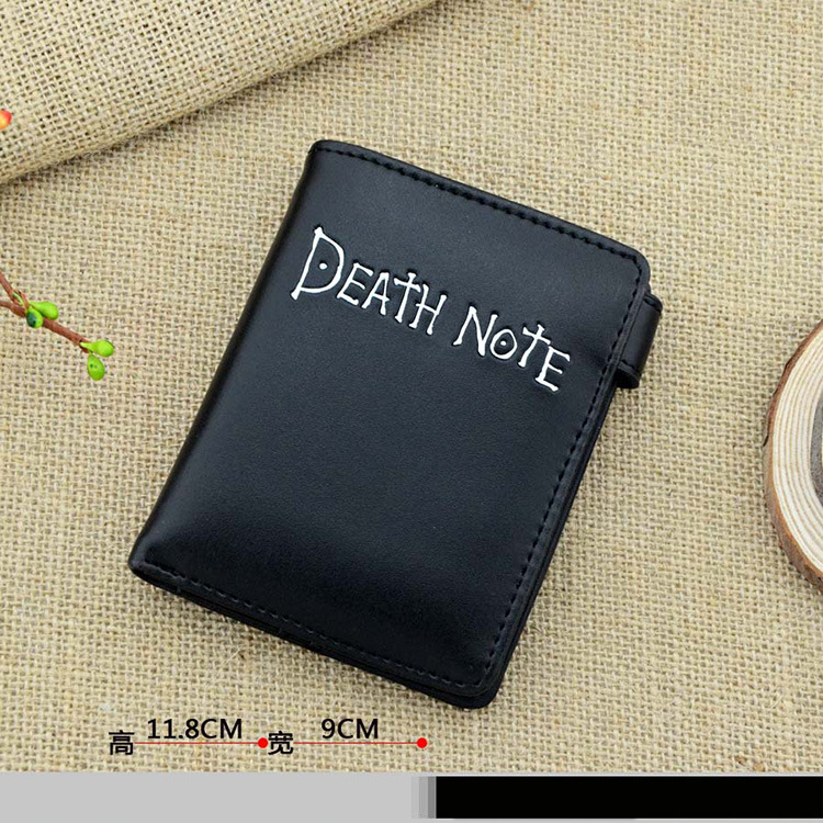 2016 short section of the bulk of Death Note anime wallet snap-Fold wallet purse black cartoon classic style perfect present death note necklace japan anime l ryuuzaki zinc alloy silver necklaces retail bulk free shipping