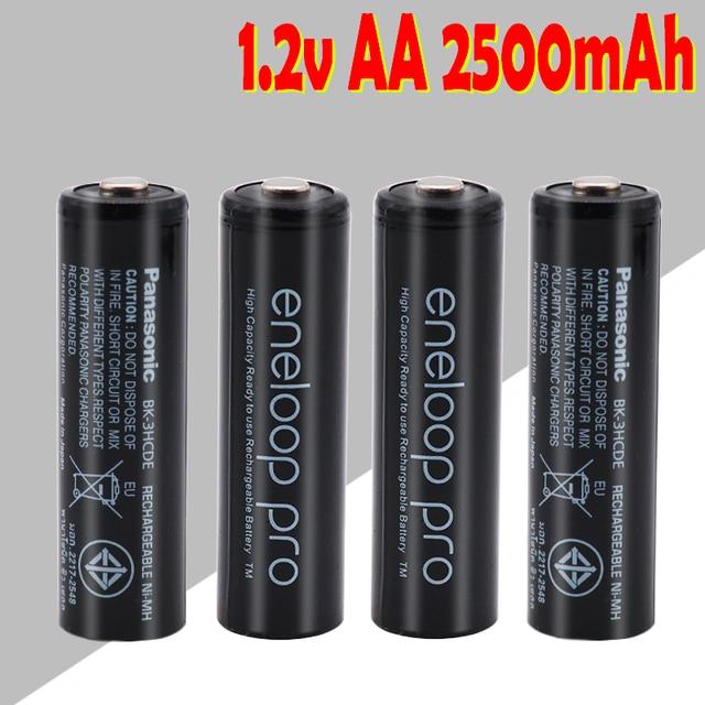AA battery rechargeable battery 1.2V AA 2500mAh Ni-MH pre-charge rechargeable battery 2A Baterias for Panasonic eneloop aa