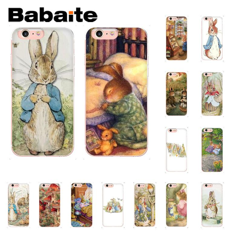 Babaite Peter Rabbit DIY Painted Coque Shell Phone Accessories Case for iPhone 8 7 6 6S Plus X XS MAX 5 5S SE XR 10 Cover