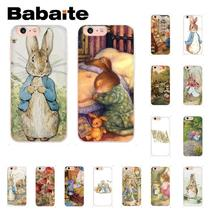 Babaite Peter Rabbit DIY Painted Coque Shell Phone Accessories Case for