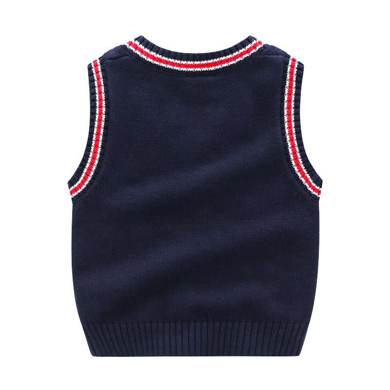 Boy Sweater Vest Sleeveless Striped V Neck For Boys Toddler School Uniform Autumn Winter Kids Clothes    Years Y In Sweaters From Mother Kids