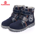 FLAMINGO 2016 new collection spring/autumn fashion kids boots high quality anti-slip kids shoes for boys 52-XB141