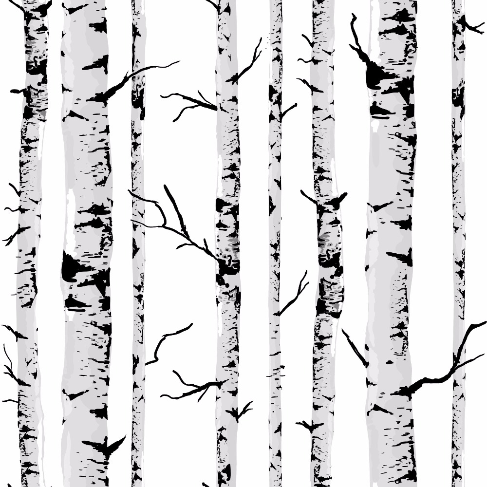 Tree Wall Paper wallpaper black picture - more detailed picture about decorative