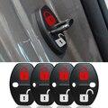 Car Accessories DIY Lock Sticker  Car Door Lock Cover Fit For Hyundai equus azera KIA Ceed Venga 4pcs Per Set