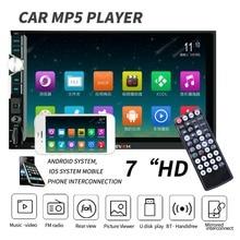 цена на 2 Din Universal Car Radio 7'' HD Player MP5 Bluetooth Autoradio Remote Control FM Rds Radio AUX USB Auto Audio Car Stereo