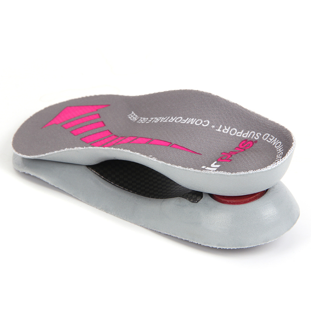 e68f779f07 3/4 Length PU Insole Flat Feet Orthotic Insoles Arch Support Shock Absorb  Foot Care Pain Relief Half Orthopedic Shoe Insert Pads