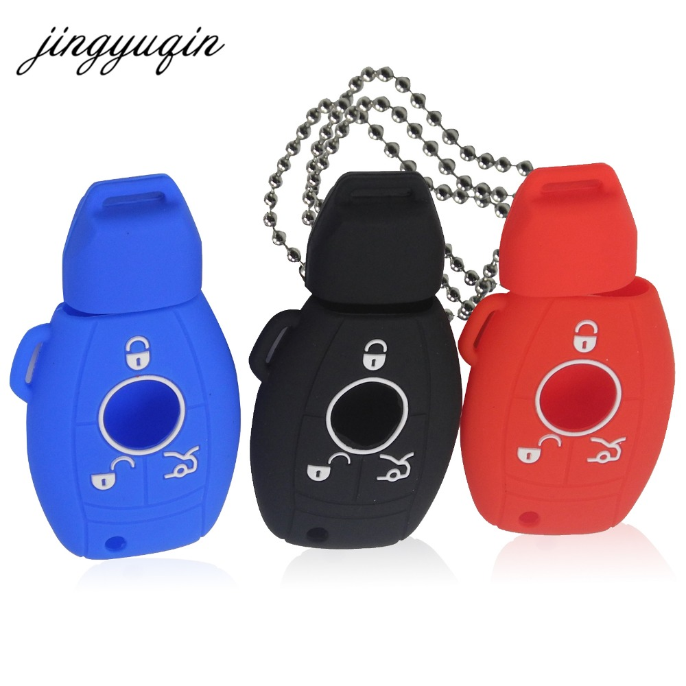jingyuqin Silicone Car Key Cover Case for Mercedes For Benz W203 W211 CLK C180 E200 AMG C E S Class Keyrings Holders Accessoriesjingyuqin Silicone Car Key Cover Case for Mercedes For Benz W203 W211 CLK C180 E200 AMG C E S Class Keyrings Holders Accessories