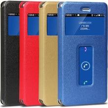 Для ZTE Nubia Z11 случае шелковая текстура Двойной Окно стойки кожи телефон сумка-чехол для ZTE Nubia Z11 случае 5.5 «дюймов.