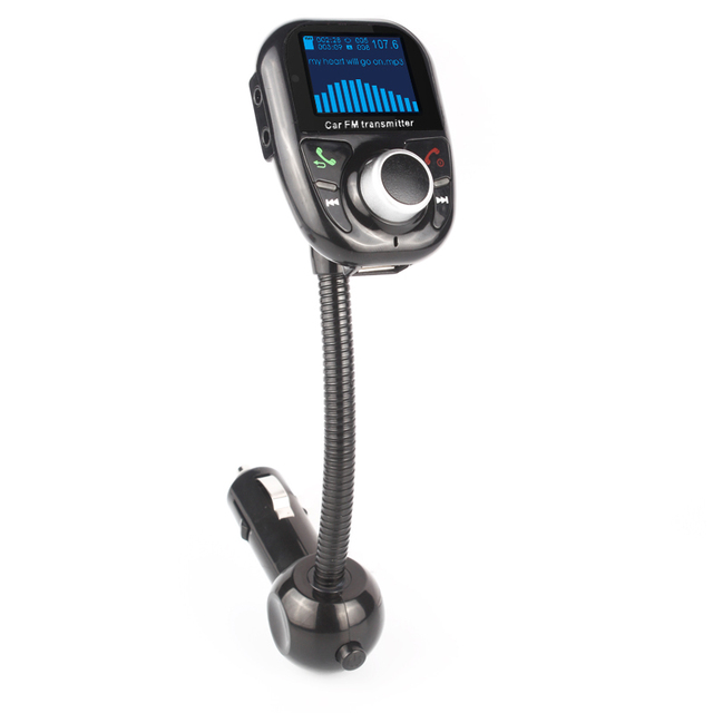 Universal Car MP3 Audio Car Kit Player Bluetooth Wireless FM Transmitter With Remote Control HandsFree LCD Screen USB Charger