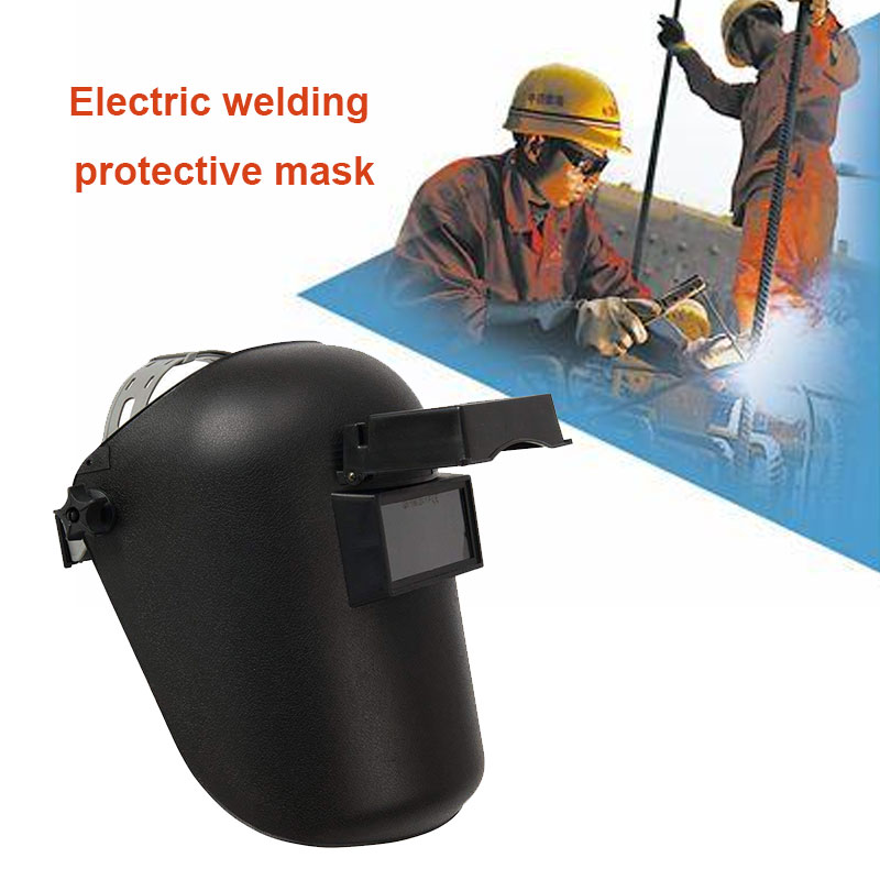 Welder Mask Welding Helmet Arc Tig Mig Flip Up Lens Adjustable Black Grinding Anti-UV Solder Slag Mars Splash Head-Mounted