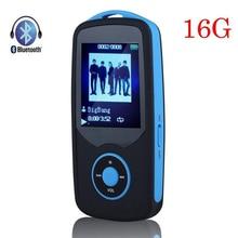 Nueva Original RUIZU X06 16G Bluetooth Reproductor de MP3 de Alta Calidad sin pérdida de 1.8 Pulgadas Juego 100Hr FM Grabadora de Radio Walkman Deportivo azul