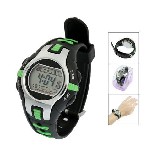 YCYS MAN Boy Black Green SPORT WATCHES  Adjustable Wristband Digital Sports Watches For Man