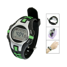 YCYS MAN boy Black Green SPORT WATCHES Adjustable Wristband
