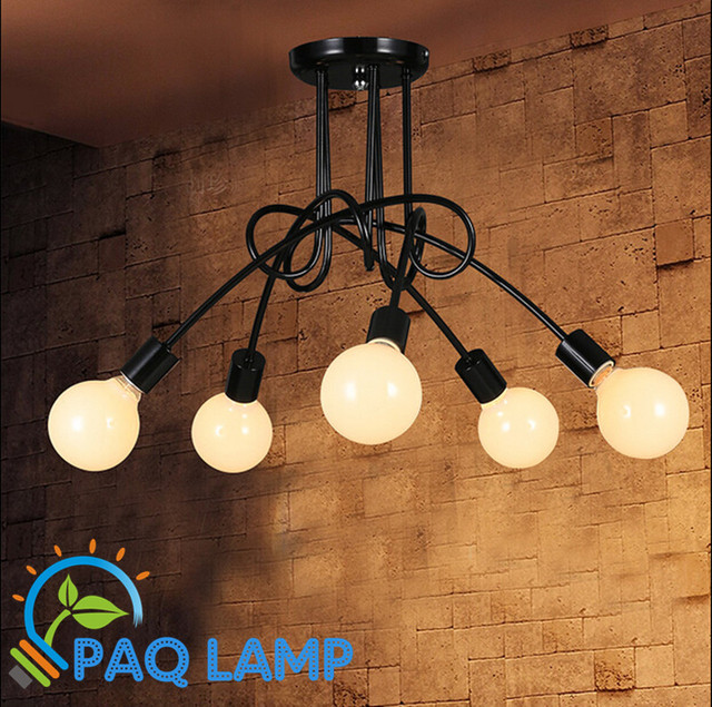 Aliexpress Buy Vintage retro lighting chandeliers lamp iron – Led Light Chandelier