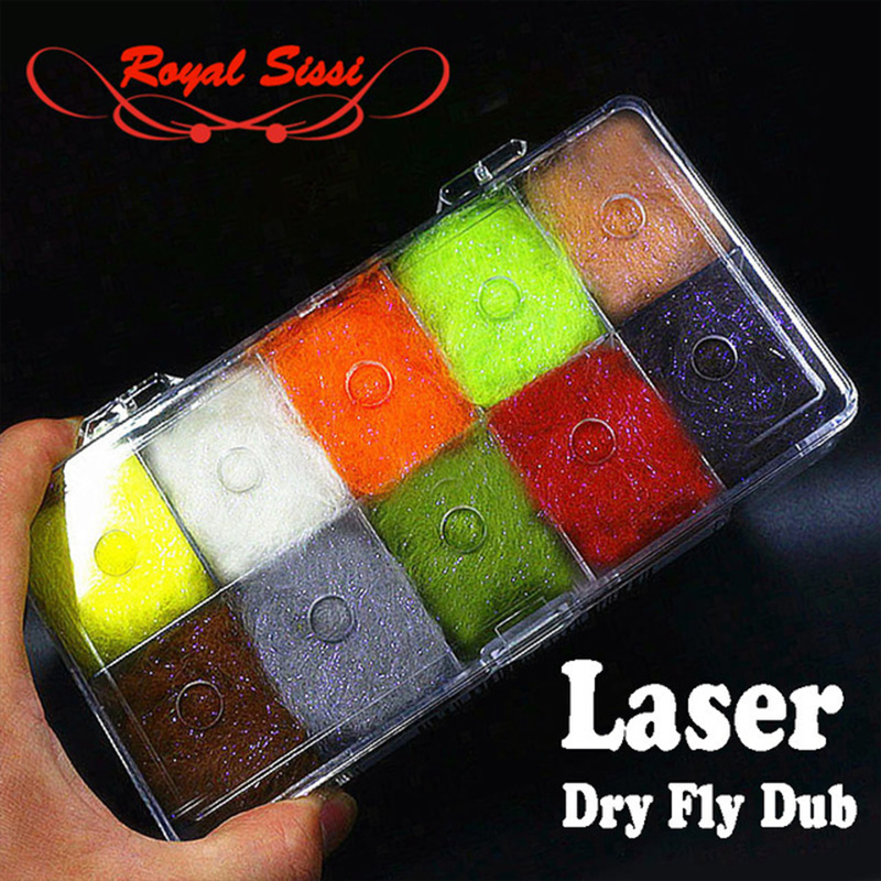 10colors new developed 2.5Denir laser dry fly dubbing synthetic dry dub plus UV ice dub/ permanent waterproof fly tying material bimoo 6 bags ultra fine ice dub for fly tying synthetic sparkle dubbing fiber for nymph scud streamers fly tying material