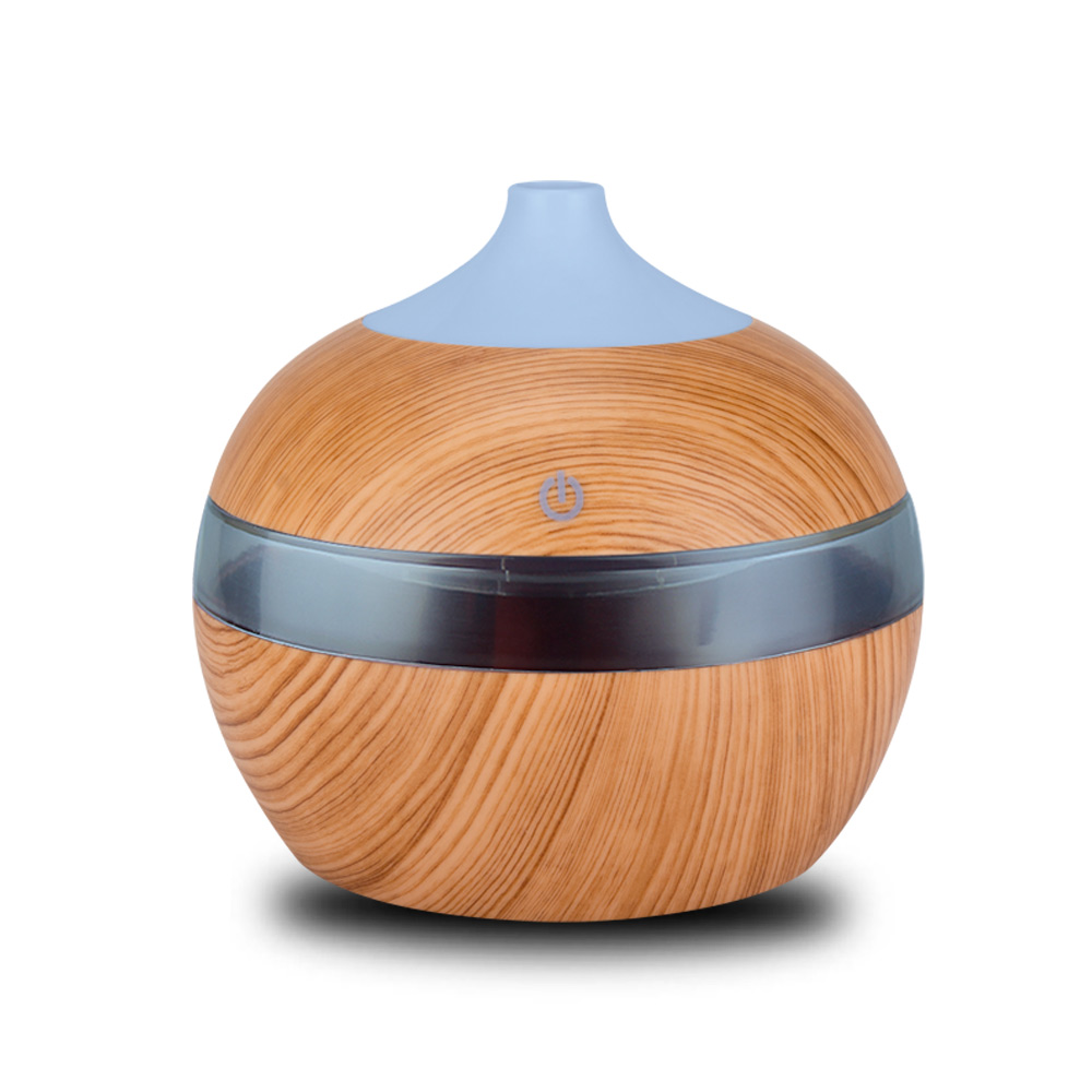 KEBEIER 300ml Mini USB Air Humidifier Essential Oil Diffusers Wood Electric Humidifier With LED Night Light Mist Maker For Home